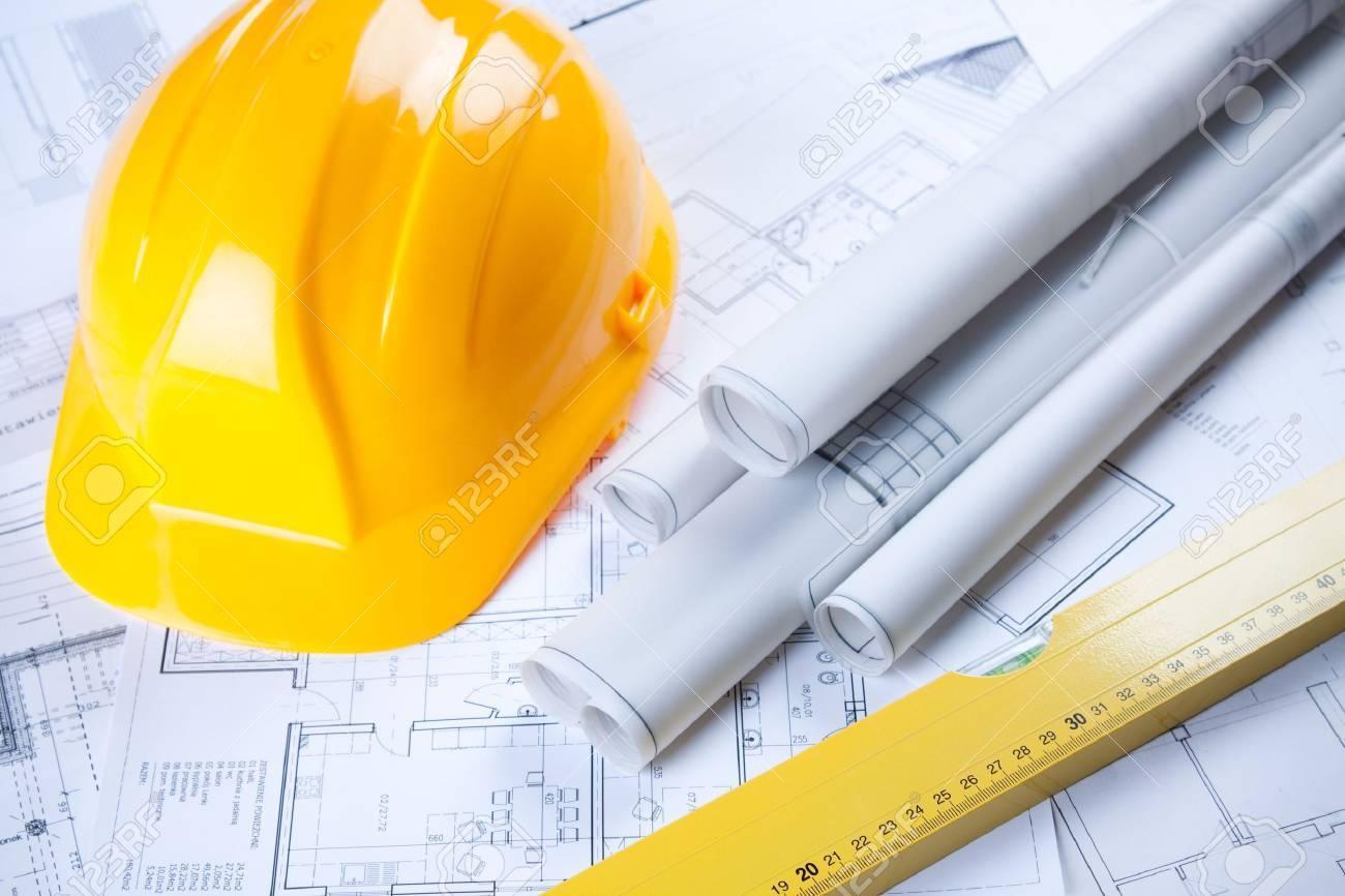 Construction plans Stock Photo - 6303453