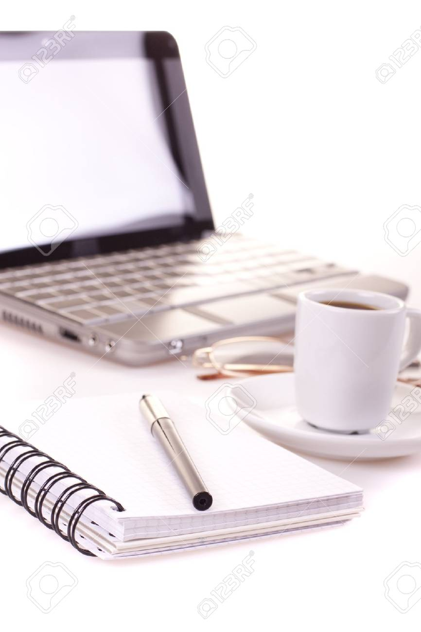 Laptop and office! Stock Photo - 7600424