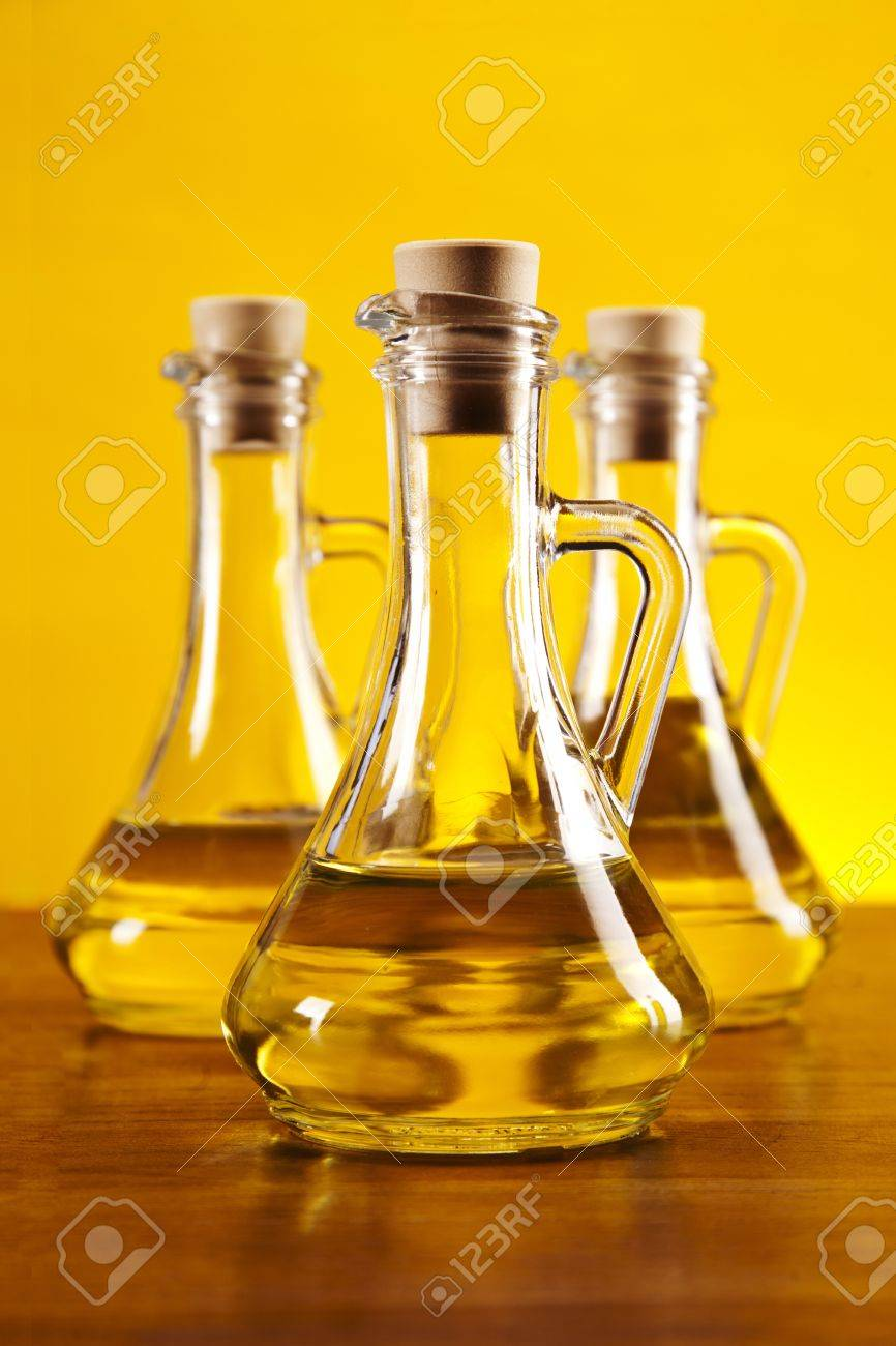 Fresh olives, olive oil on olive wood  Extra virgin Stock Photo - 16262795