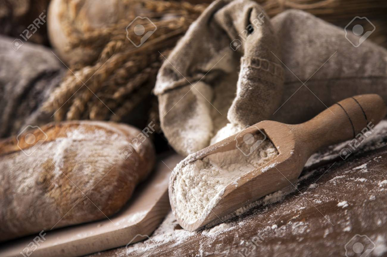 Traditional set of bread, loaves and other ingredients Stock Photo - 20144147