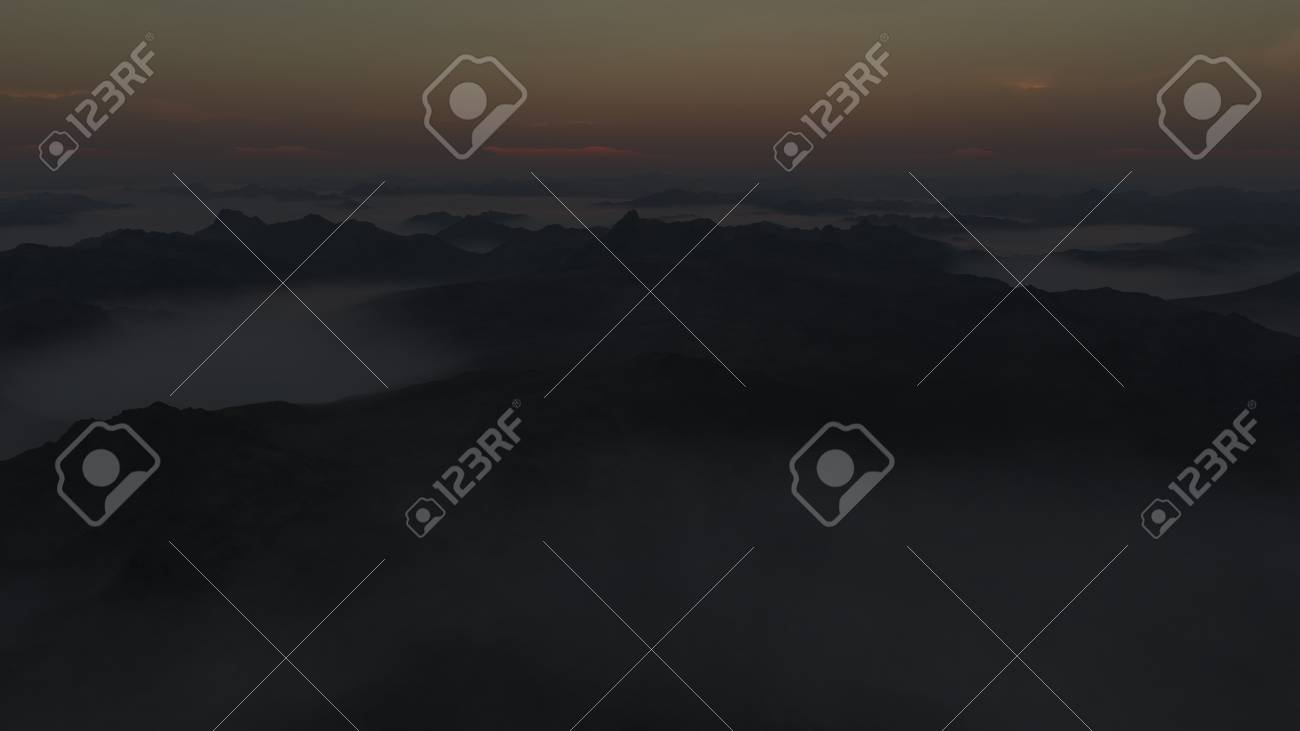 Computer generated image of the first sunrise over the newly formed Earth. Stock Photo - 8910168