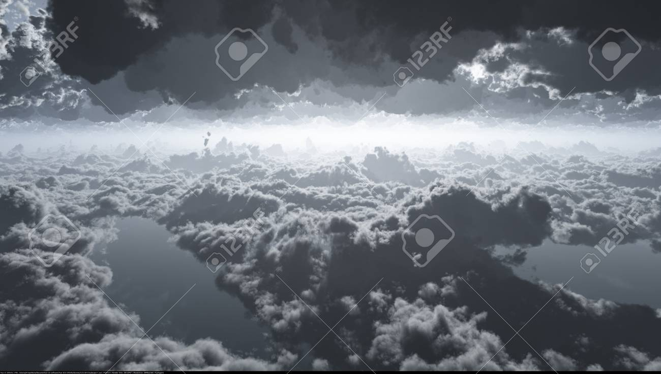 A computer generated image of dramatic clouds Stock Photo - 17852785