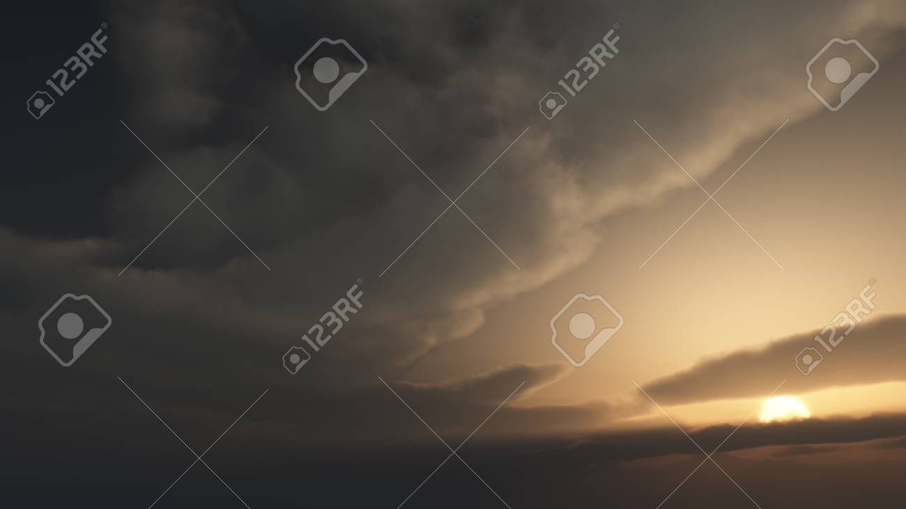 computer generated image of clouds at dawn Stock Photo - 17852789