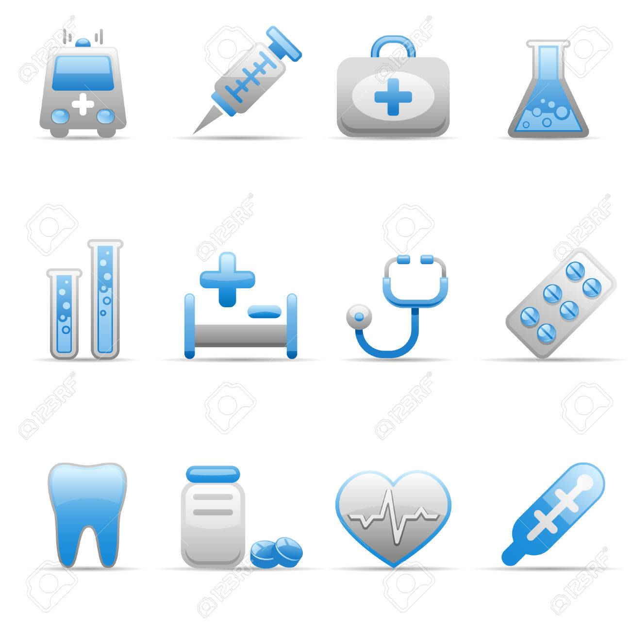 Set of icons on a medicine theme. - 4983263