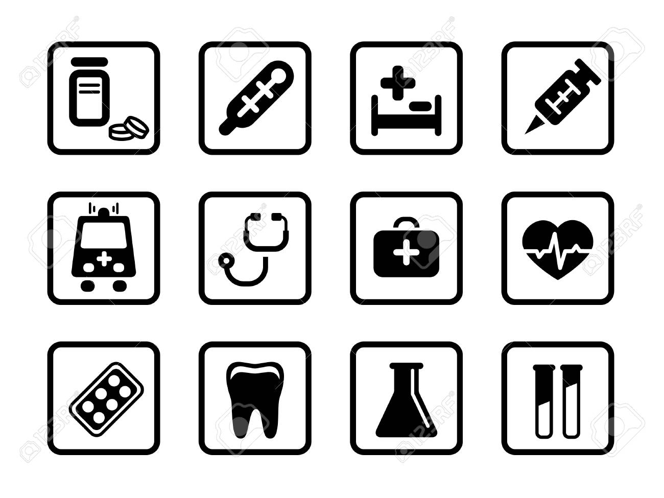 Set of icons on a medicine theme. - 4983264