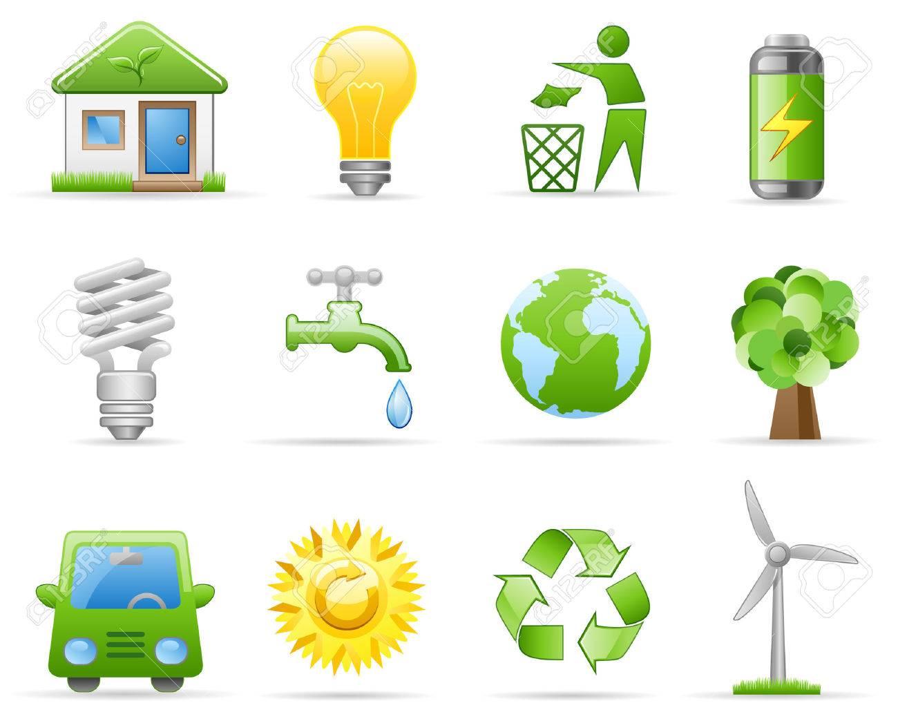 Icon set on a theme Environment Stock Vector - 5495376