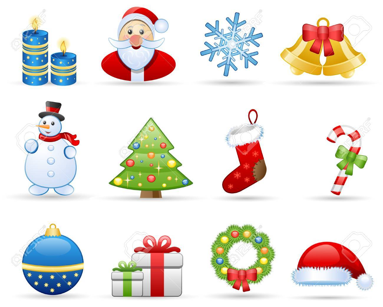 Icons set on a theme Christmas Stock Vector - 5727719