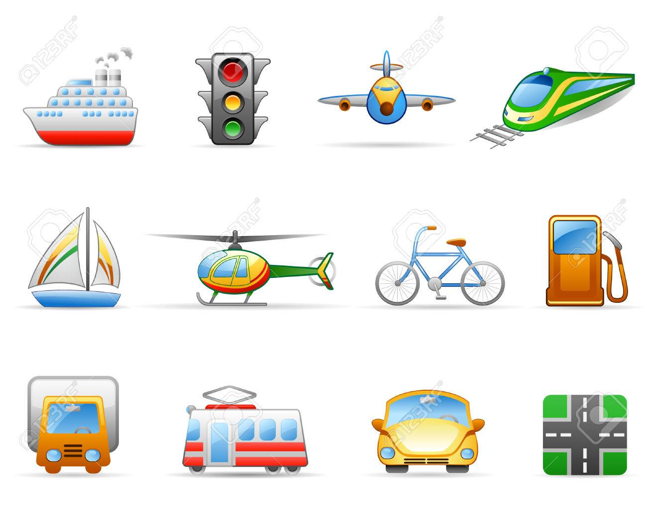 Icon set on a theme Transport Stock Vector - 5798592