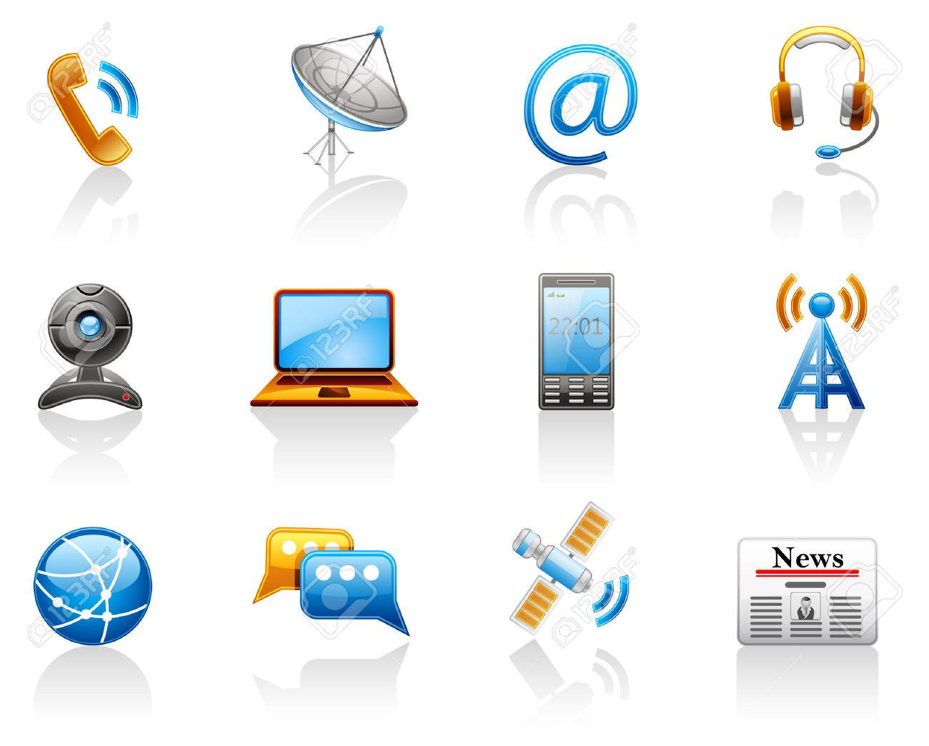 Communication icon set Stock Vector - 6474664