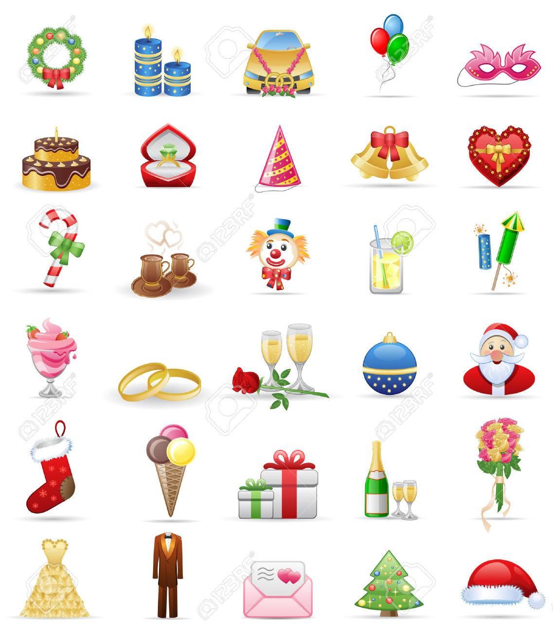 Holidays  icon set Stock Vector - 6533209