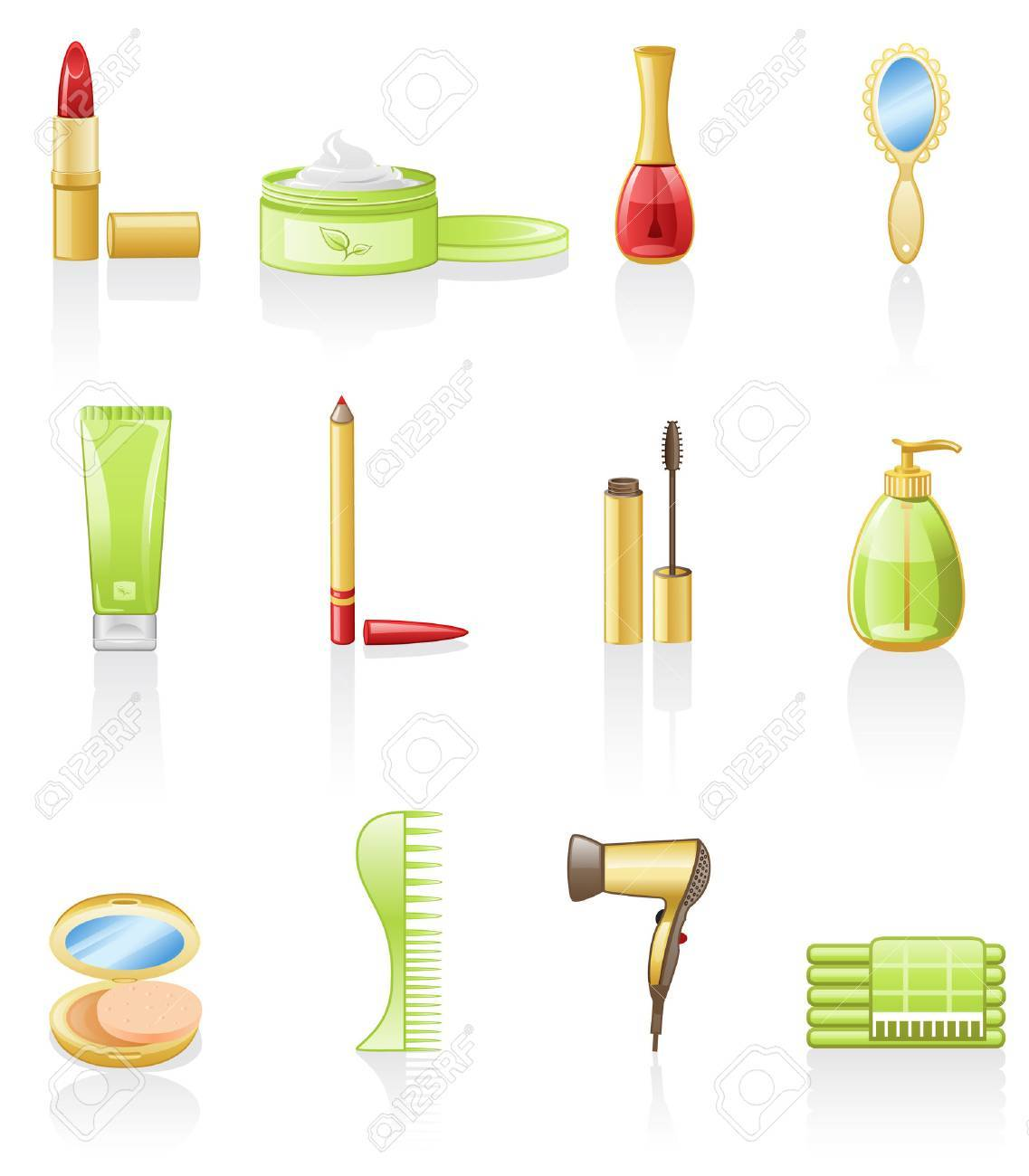 Beauty icon set Stock Vector - 6606045