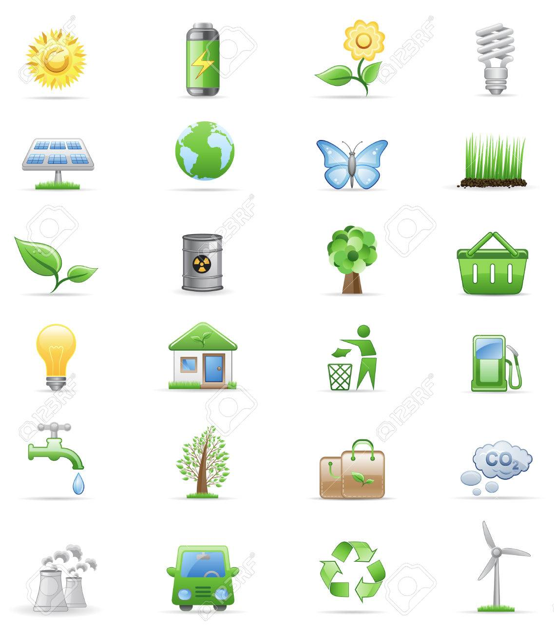 Environment icon set Stock Vector - 6721526