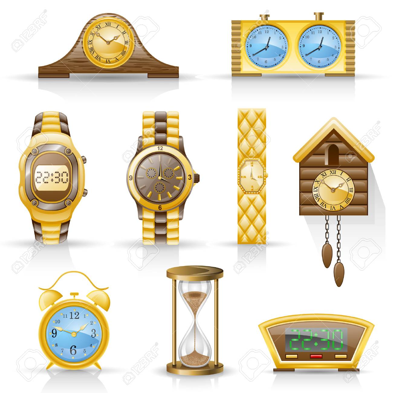 Watches isolated on white background. Stock Vector - 8614430