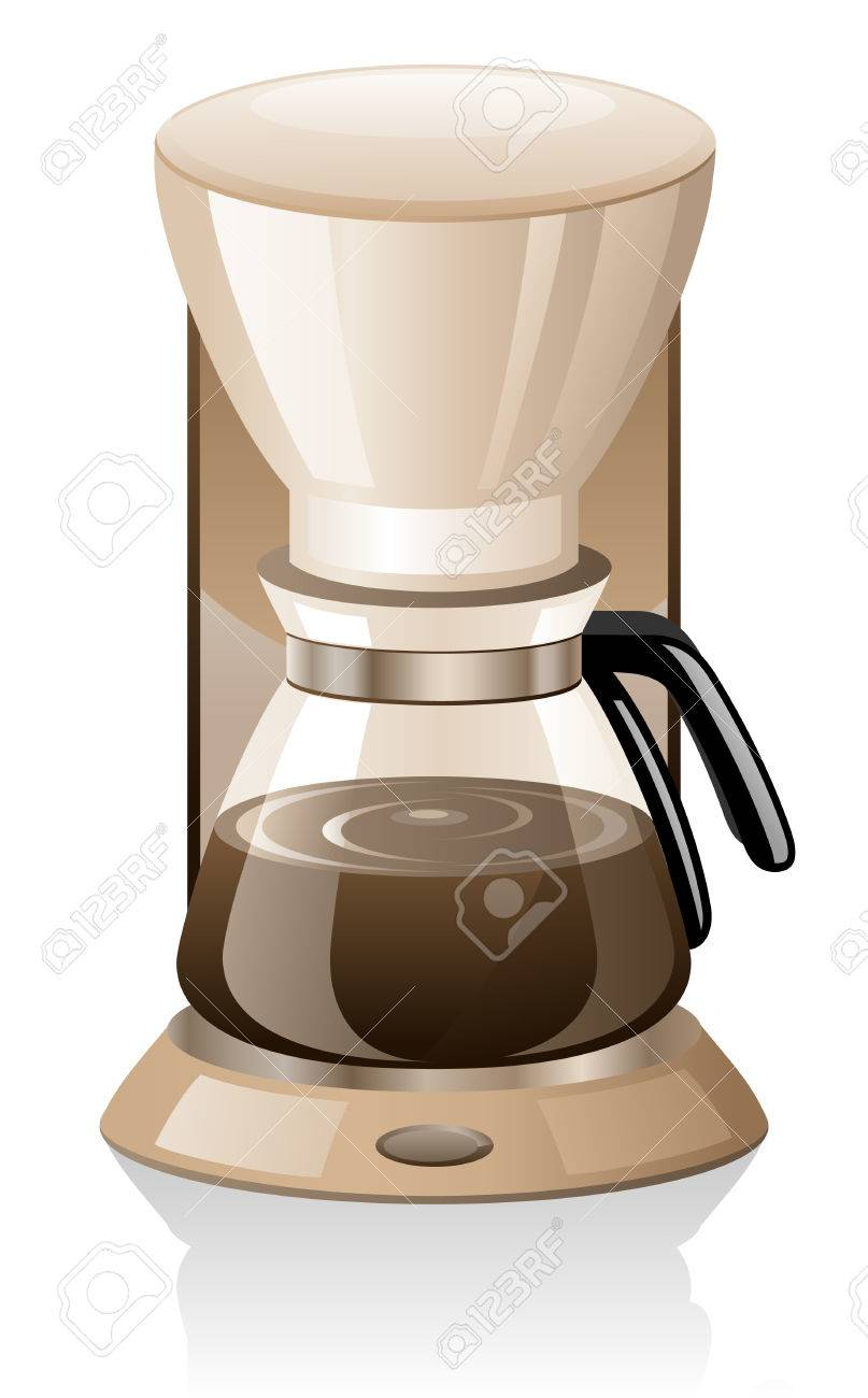 Coffee maker isolated on white background. Stock Vector - 9060664