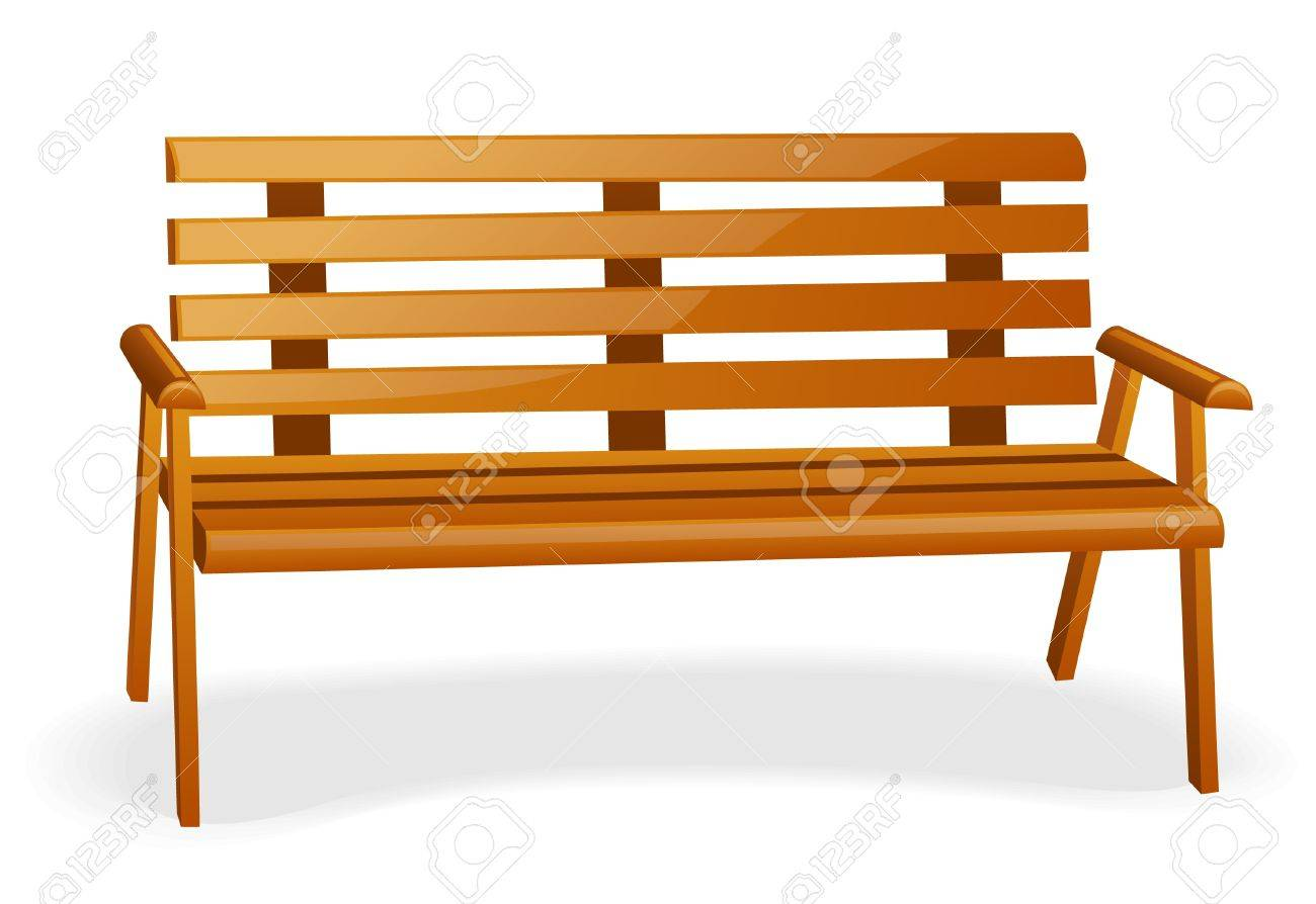 Bench isolated on a white background. Stock Vector - 9925097