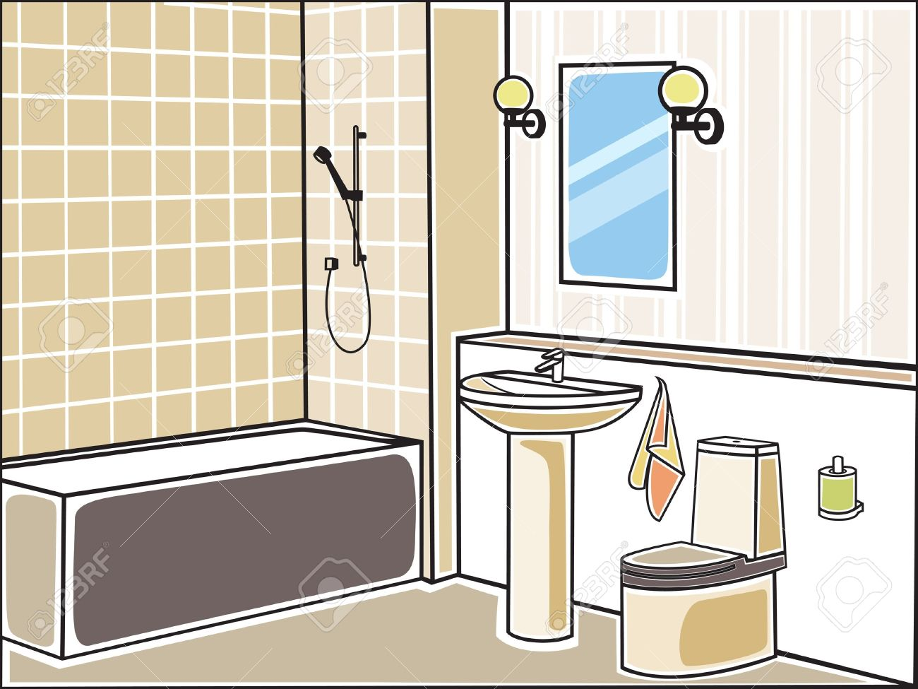 Vector illustration of bathroom Stock Vector - 17019118