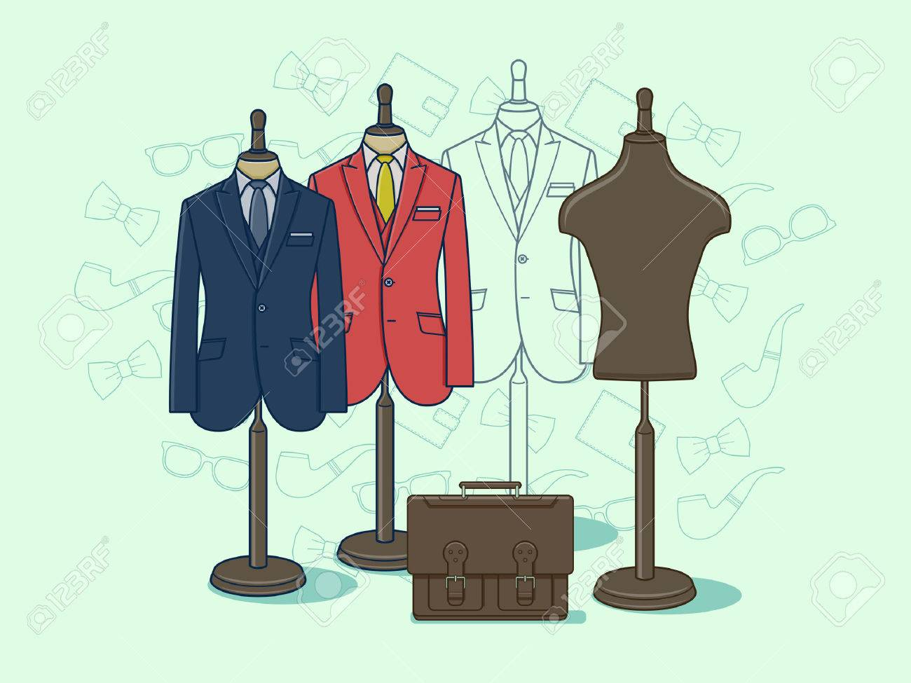 Mannequin for clothes. Fashion clothing on dummy for retail illustration Stock Vector - 60624233