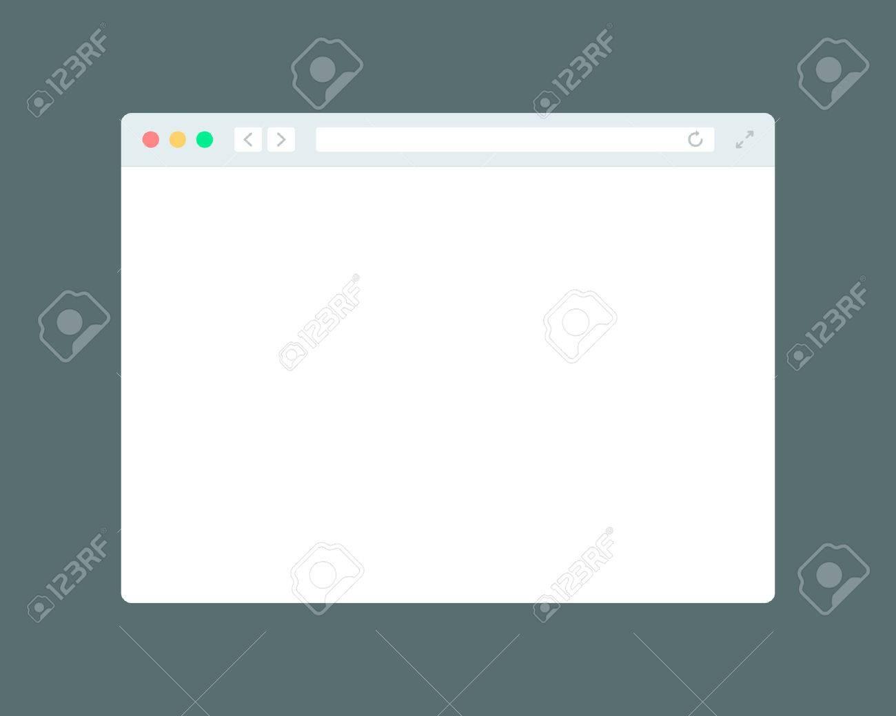 Simple modern browser window. Flat mockup template - 50314191