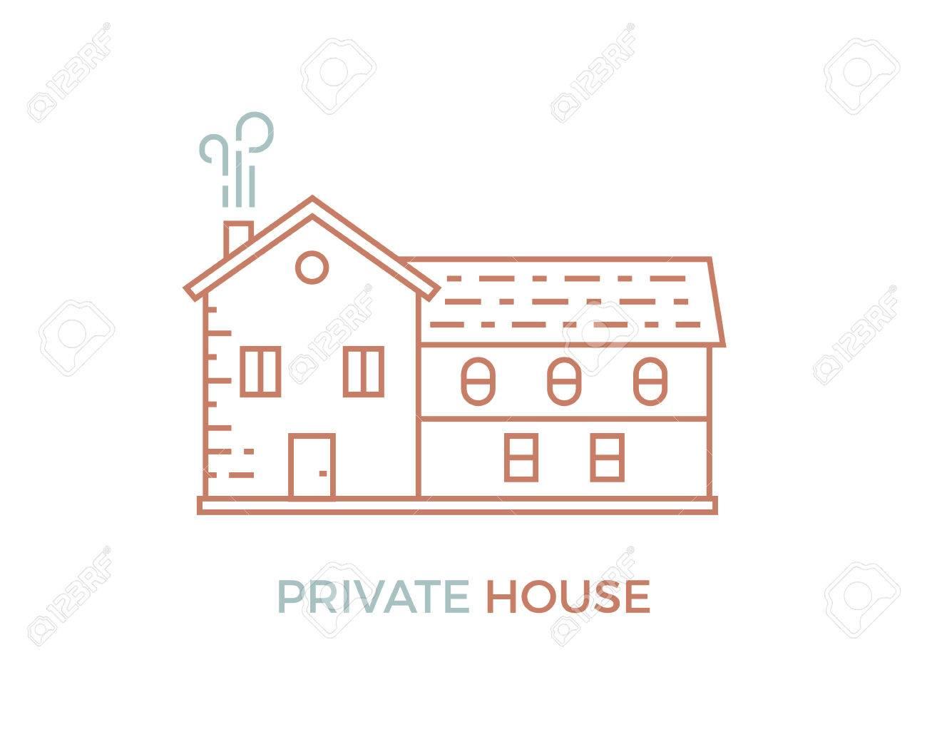 行家個人の家のシンプルなイラストのイラスト素材ベクタ Image