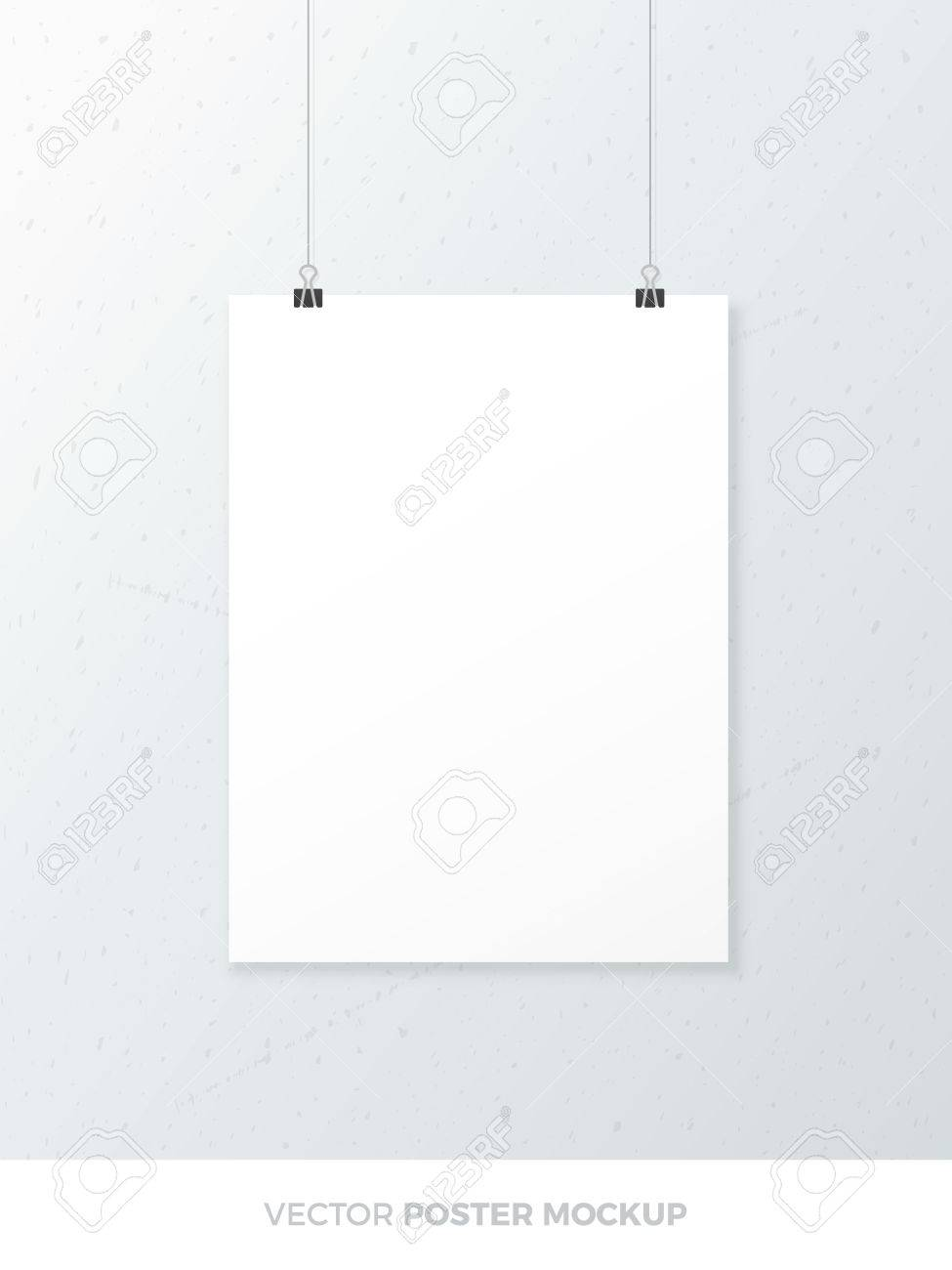 blank white poster mockup poster template royalty free cliparts