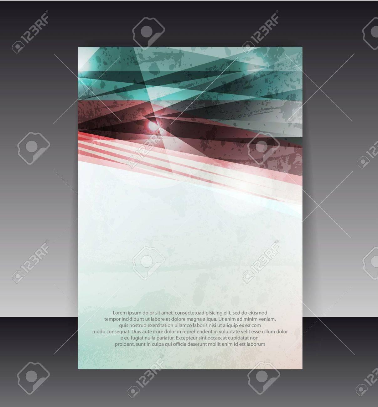 Flyer or Cover Design. Folder design content background. Stock Vector - 10045341