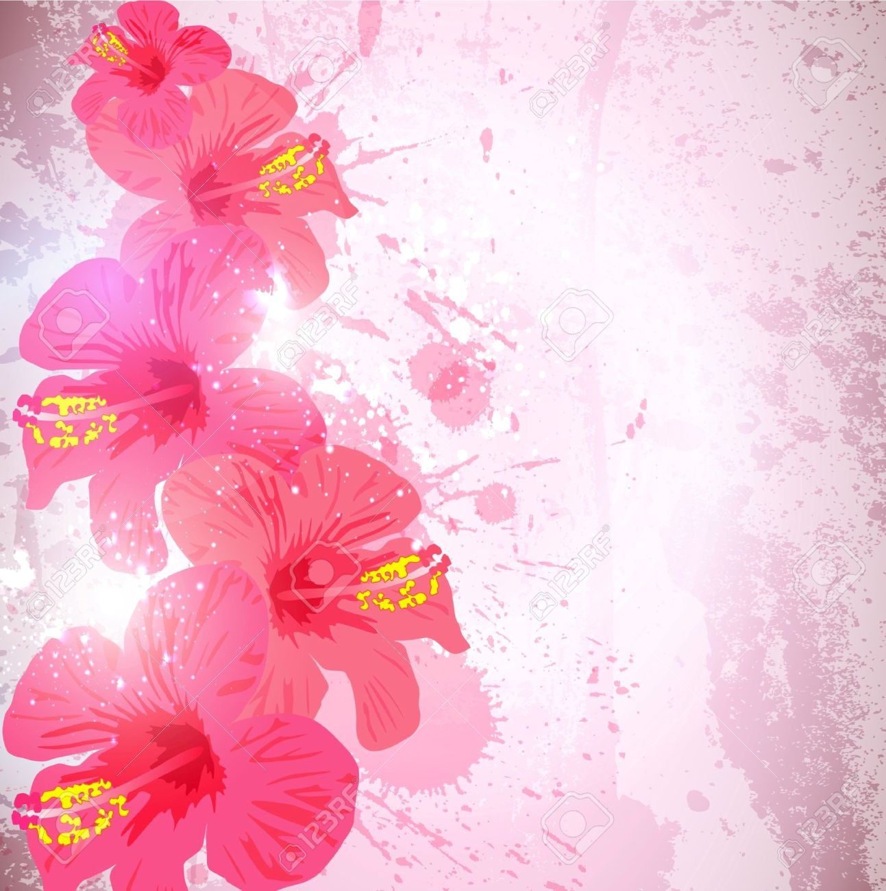 Abstract tropical background hibiscus flower for design royalty abstract tropical background hibiscus flower for design stock vector 10045355 izmirmasajfo