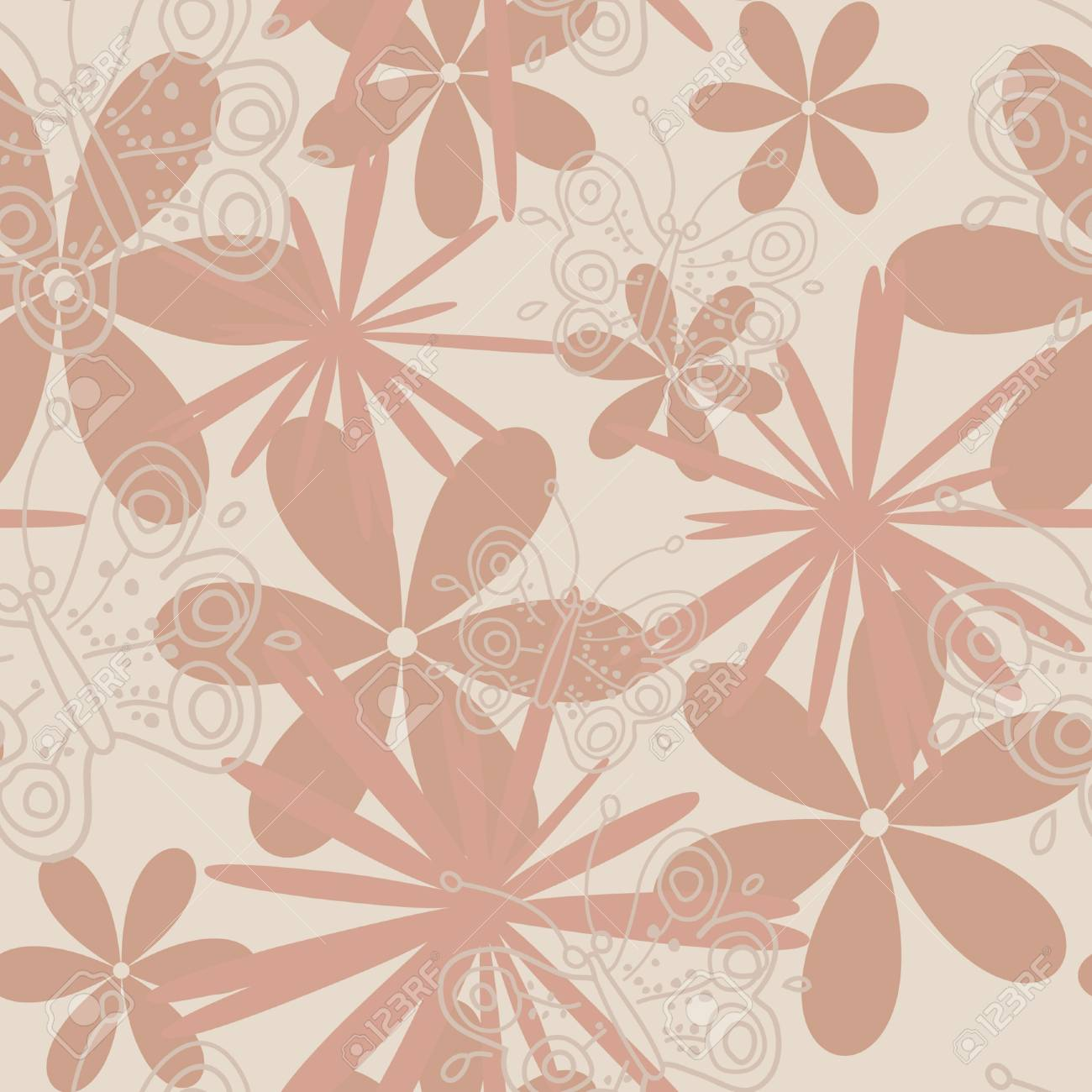 floral seamless pattern Stock Vector - 10085531