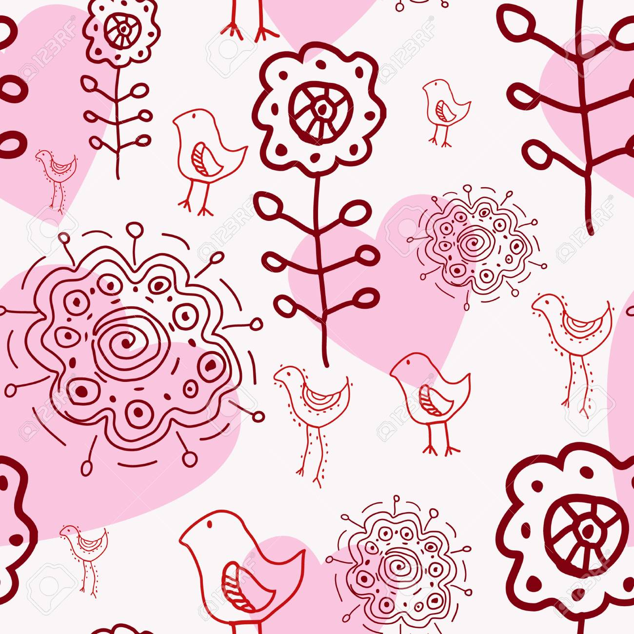 floral seamless pattern Stock Vector - 10085526
