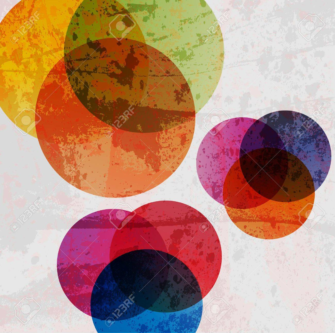 Retro modern abstraction in color. Abstract Vector Background Stock Vector - 10340647