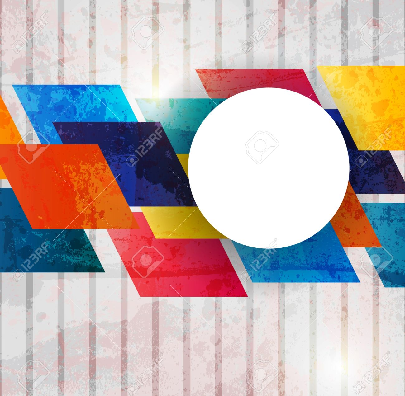 Retro modern abstraction in color. Abstract Vector Background Stock Vector - 10394628
