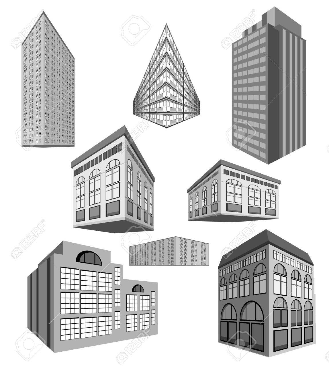 set of buildings Stock Vector - 10552674