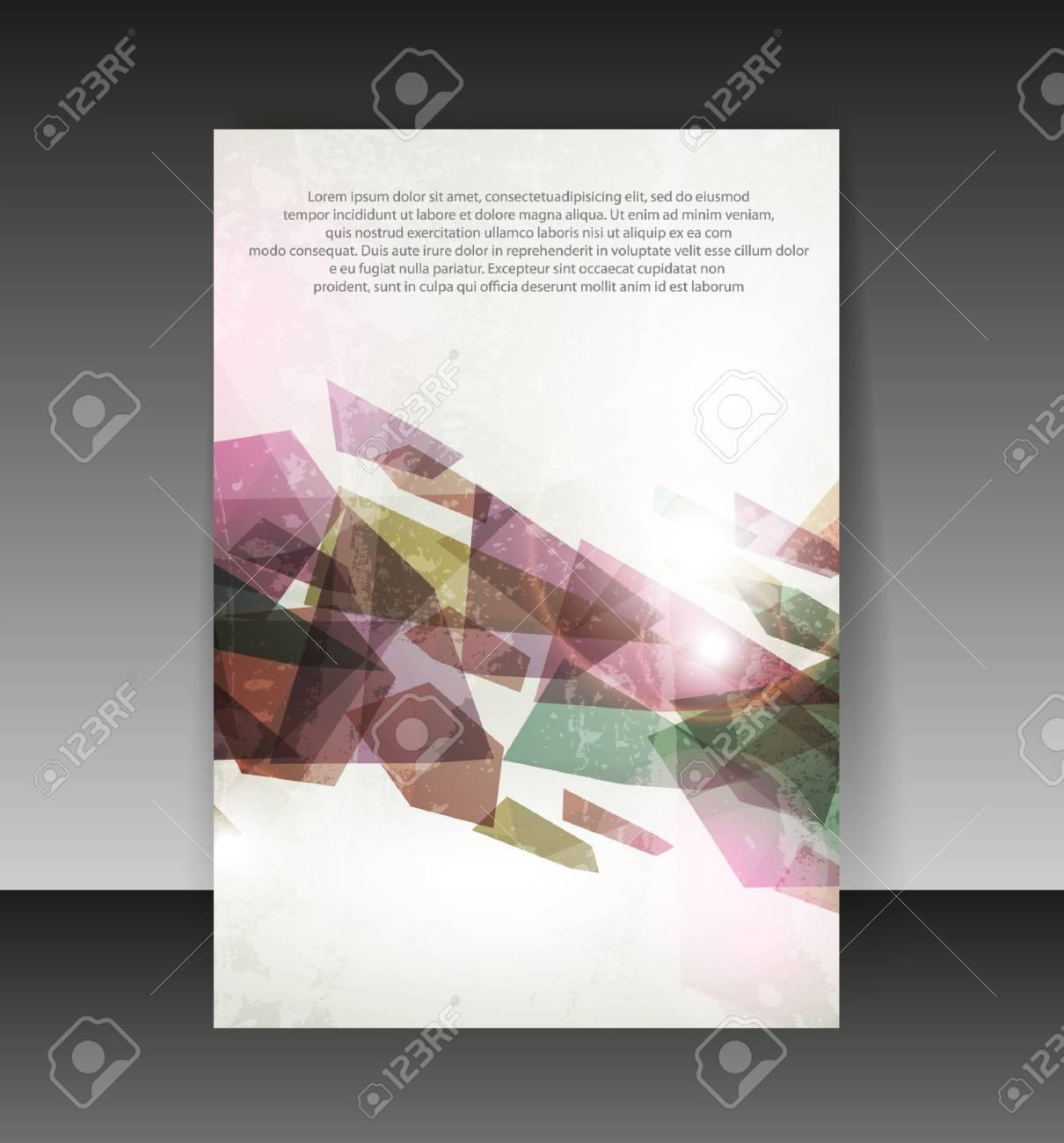 Conception Flyer Ou De Couverture Arrière Plan De Contenu Du Design De Dossier