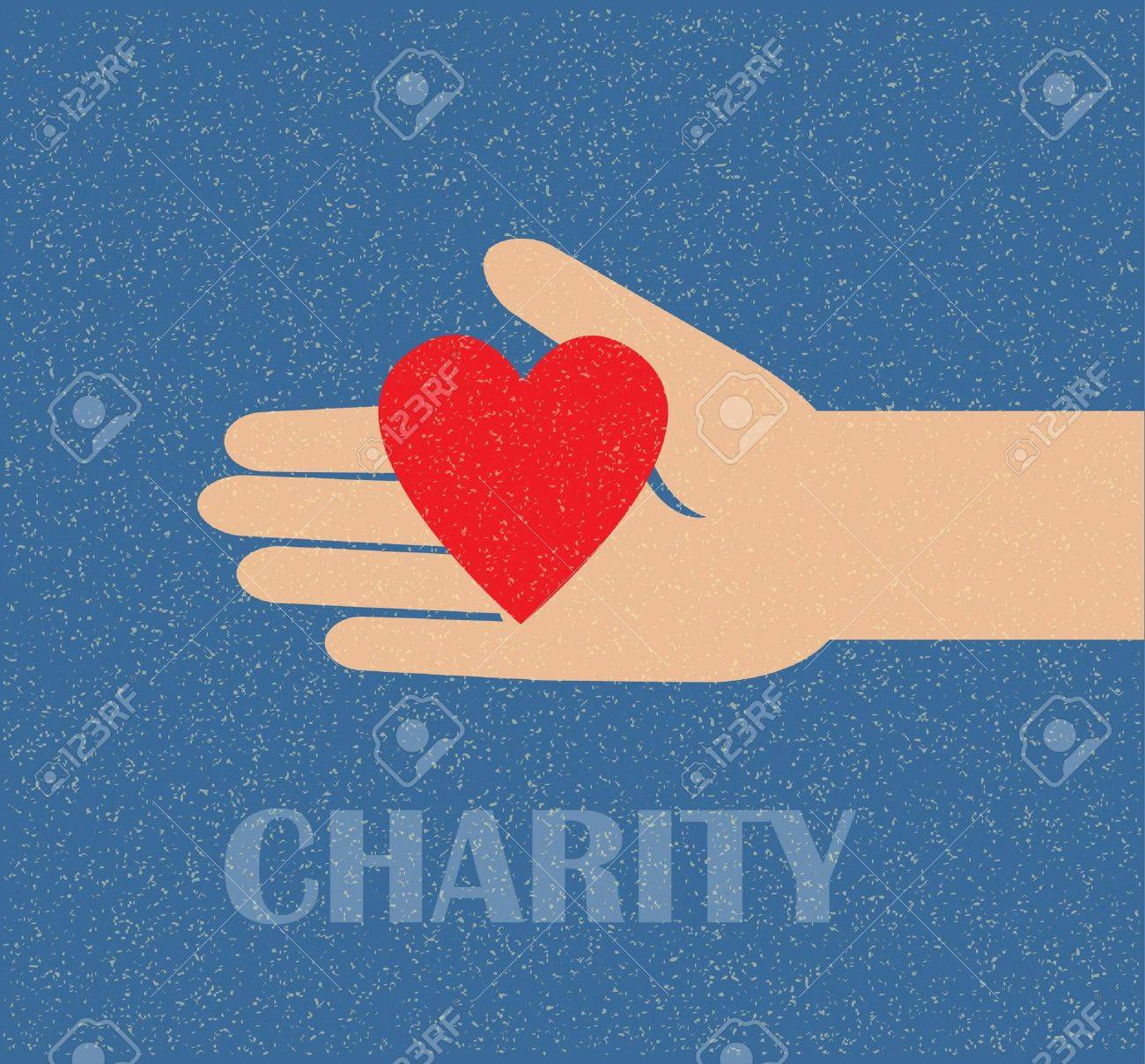 hand holding the heart. charity Stock Vector - 10988016