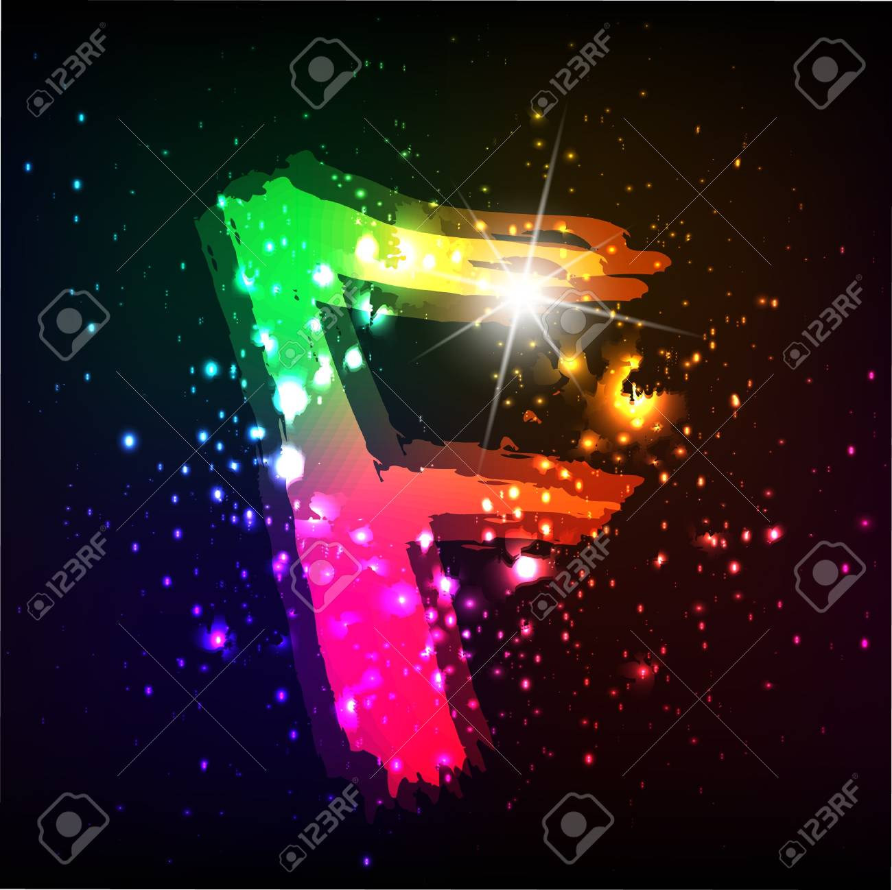 Glowing neon font. Shiny letter Stock Vector - 11837946