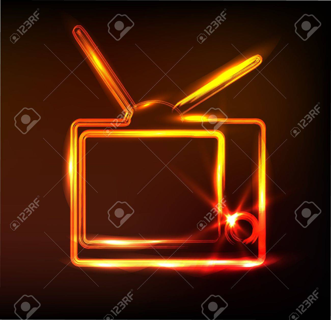glossy tv sign Stock Vector - 11837750