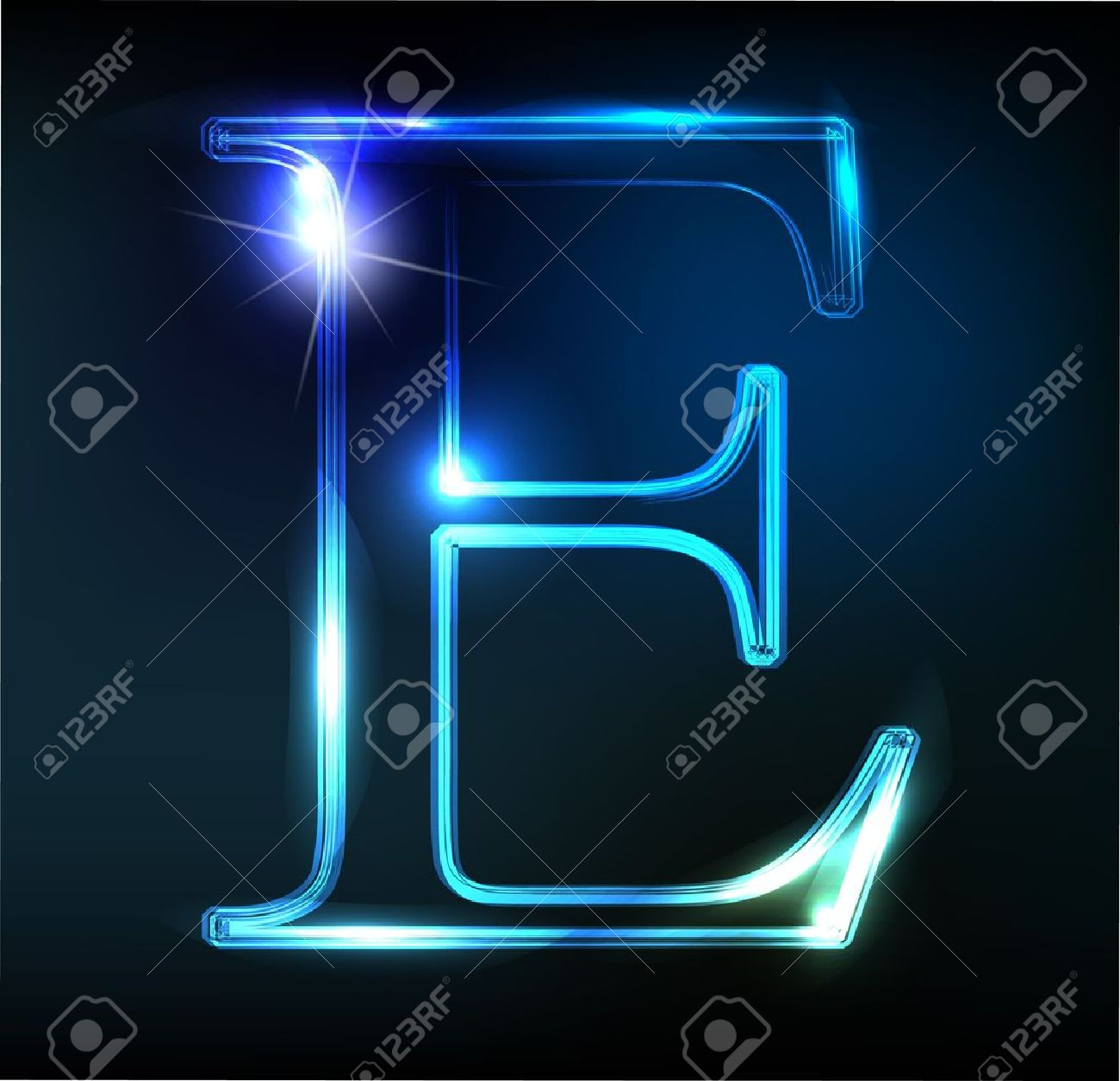 Glowing neon font. Shiny letter Stock Vector - 11837690