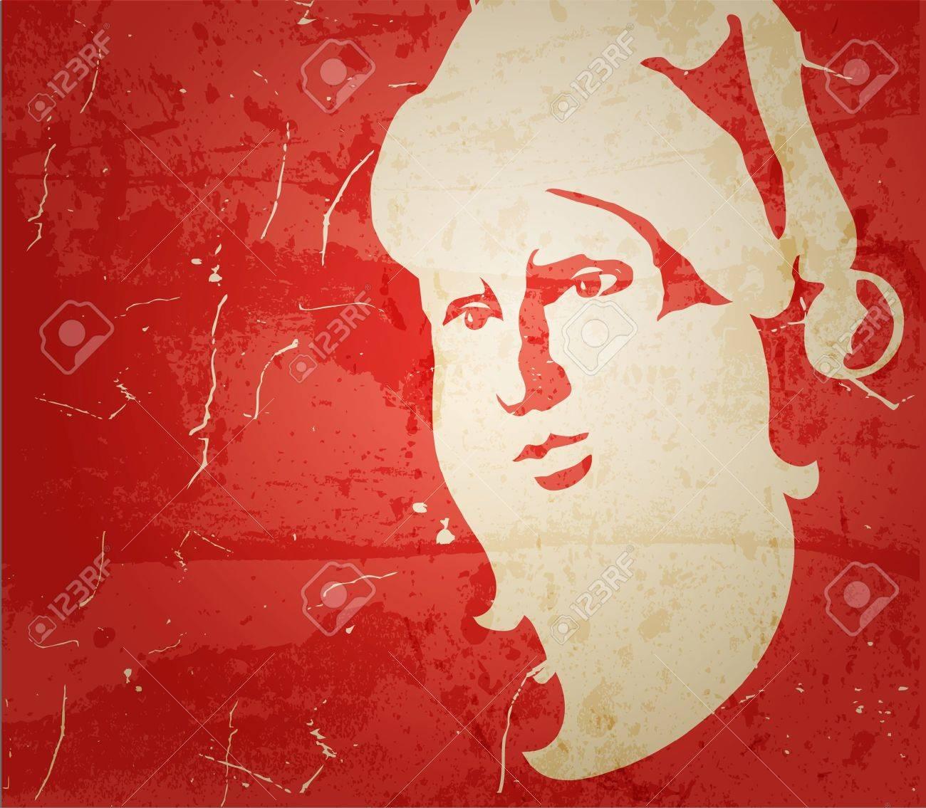 Santa Claus. Portrait on grunge background Stock Vector - 11418147