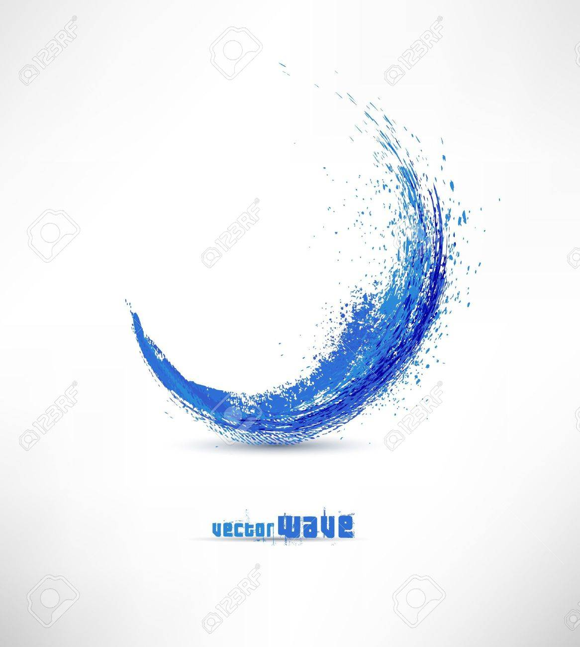 Vector illustration of abstract blue wave Stock Vector - 11449637