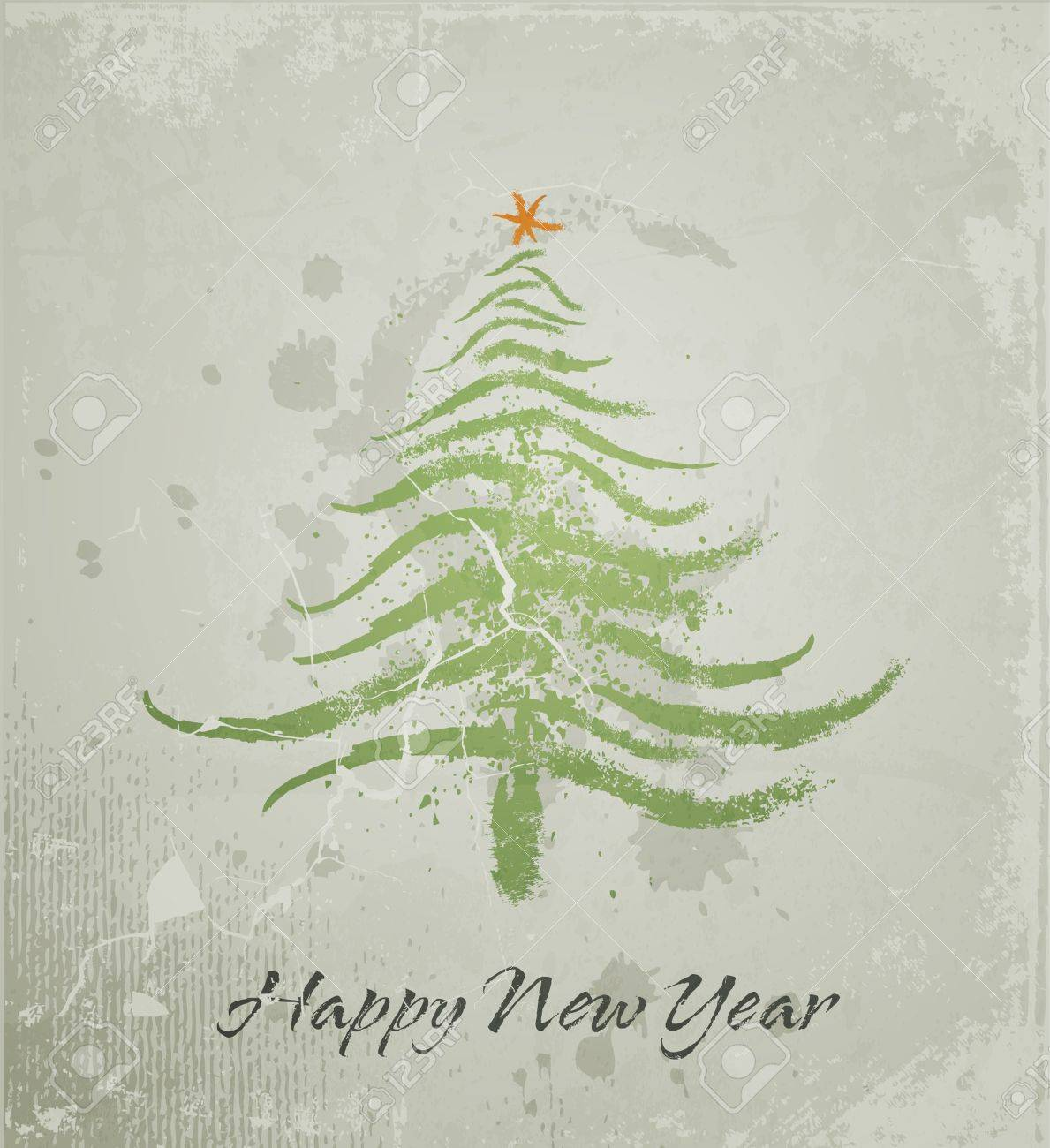 Christmas tree grunge background Stock Vector - 11657330