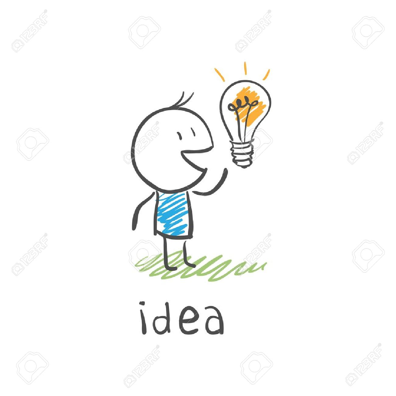 concept bulb drawing - 11911603