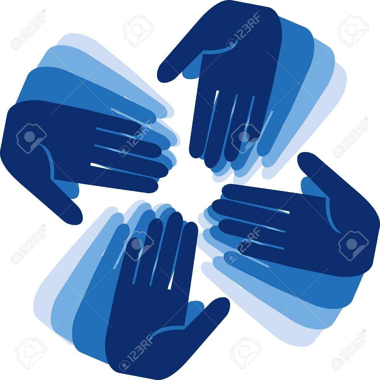 hands connecting Stock Vector - 12153823