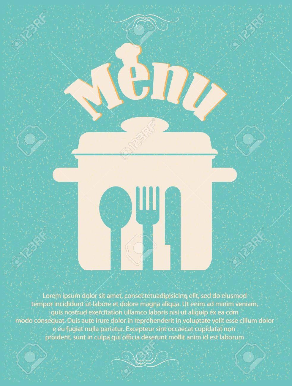 restaurant menu retro poster Stock Vector - 12351417