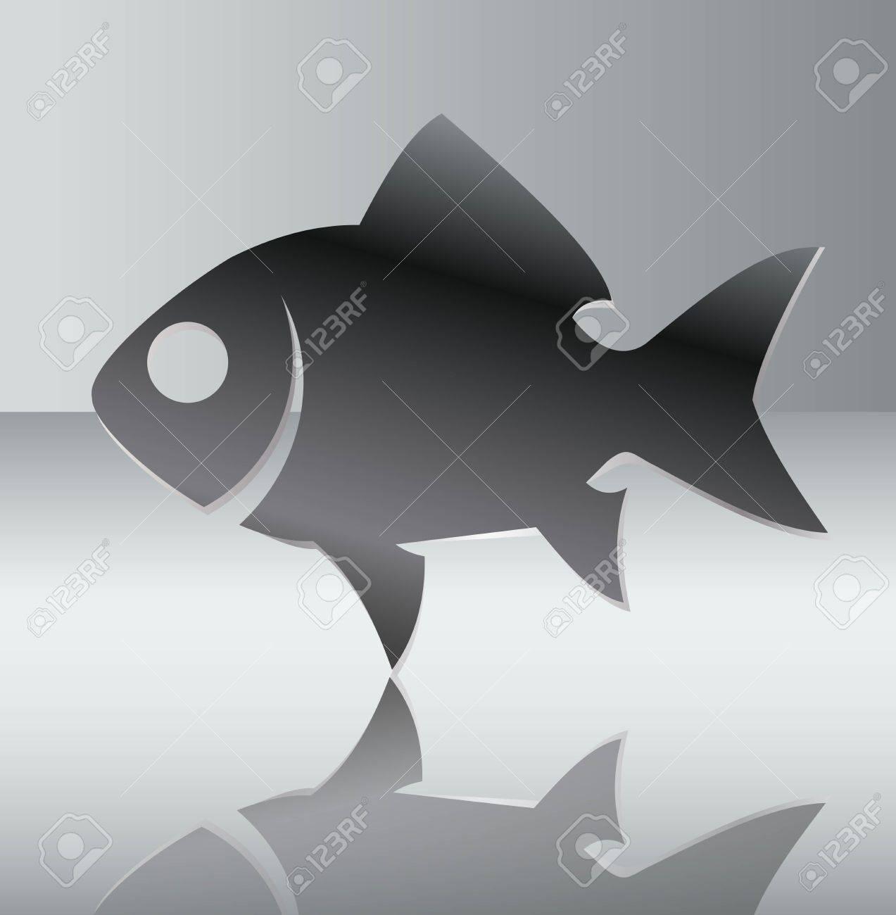 Silhouette of fish illustration Stock Vector - 12492002