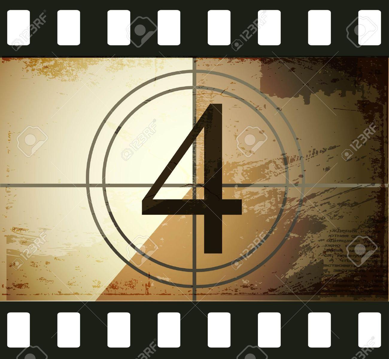 Grunge film countdown Stock Vector - 12715263