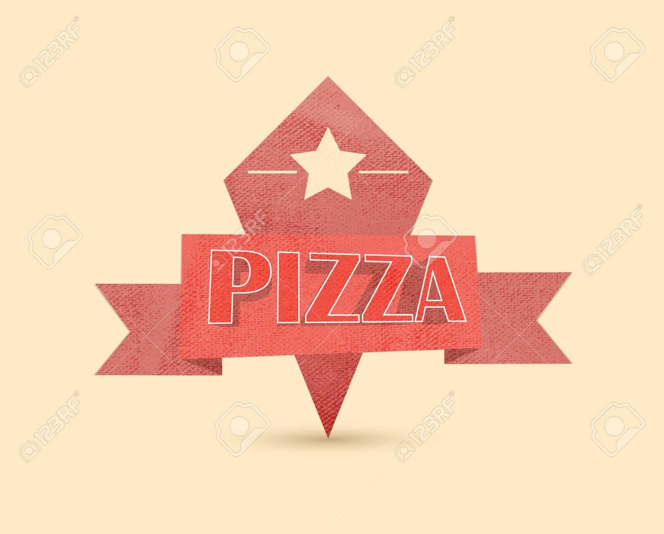 pizza vintage label Stock Vector - 13272458