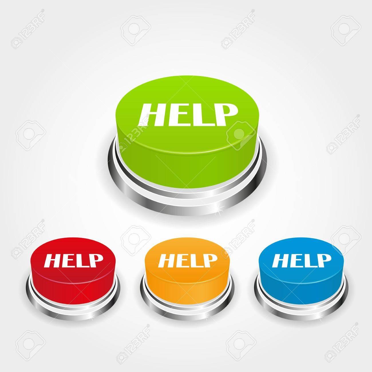 help button Stock Vector - 13433114
