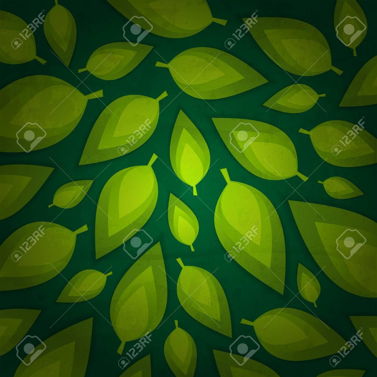 fresh green leaves design Stock Vector - 13478354