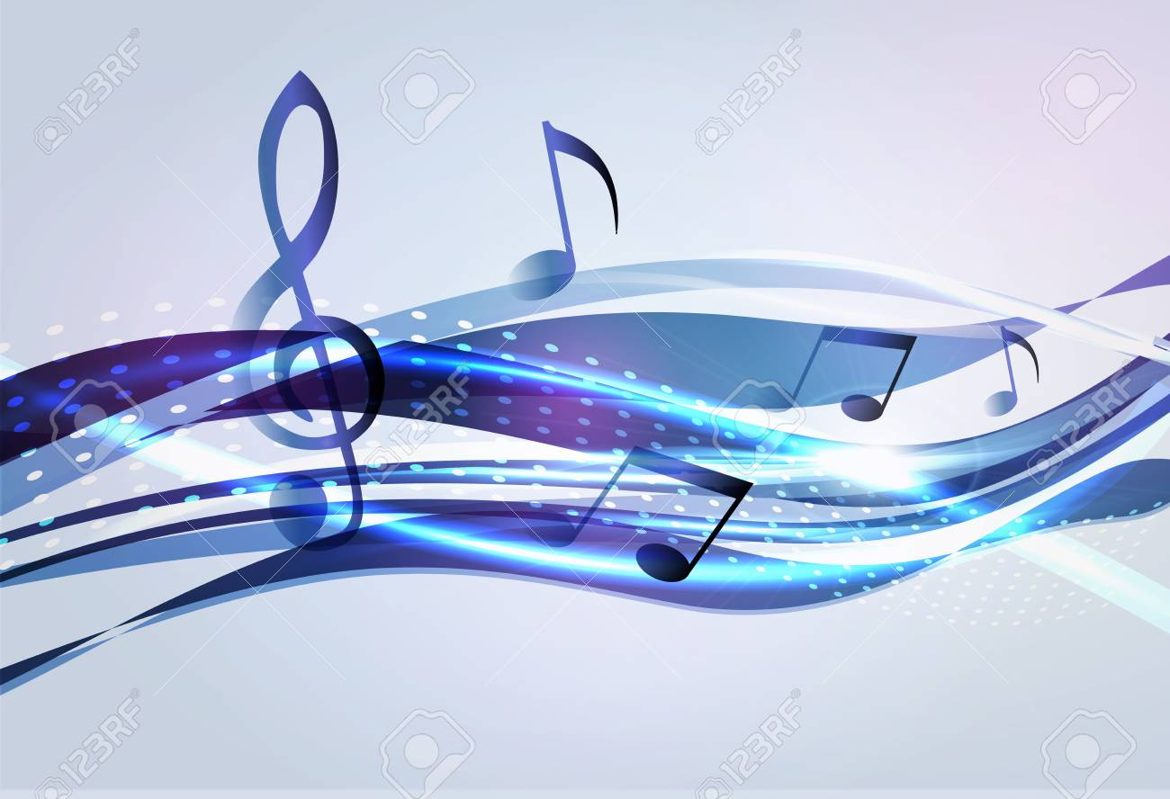 Abstract music background Stock Vector - 13478372