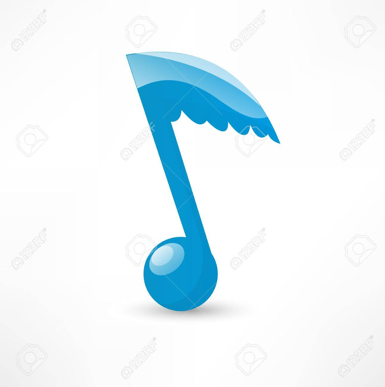 blue musical note to the wing royalty free cliparts vectors and rh 123rf com Music Notes Graphics Music Notes Graphics