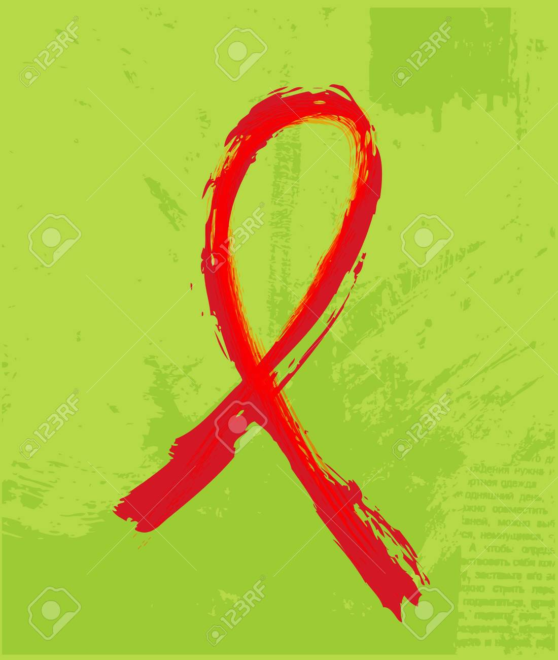 Red Support Ribbon on the grunge background Stock Photo - 14276253